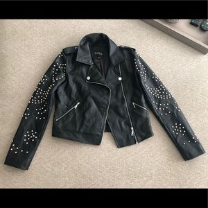 NEW Women's Guess Faux Leather Studded Jacket